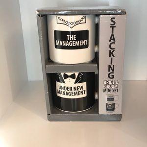 Stacking Bride & Groom Mug Set